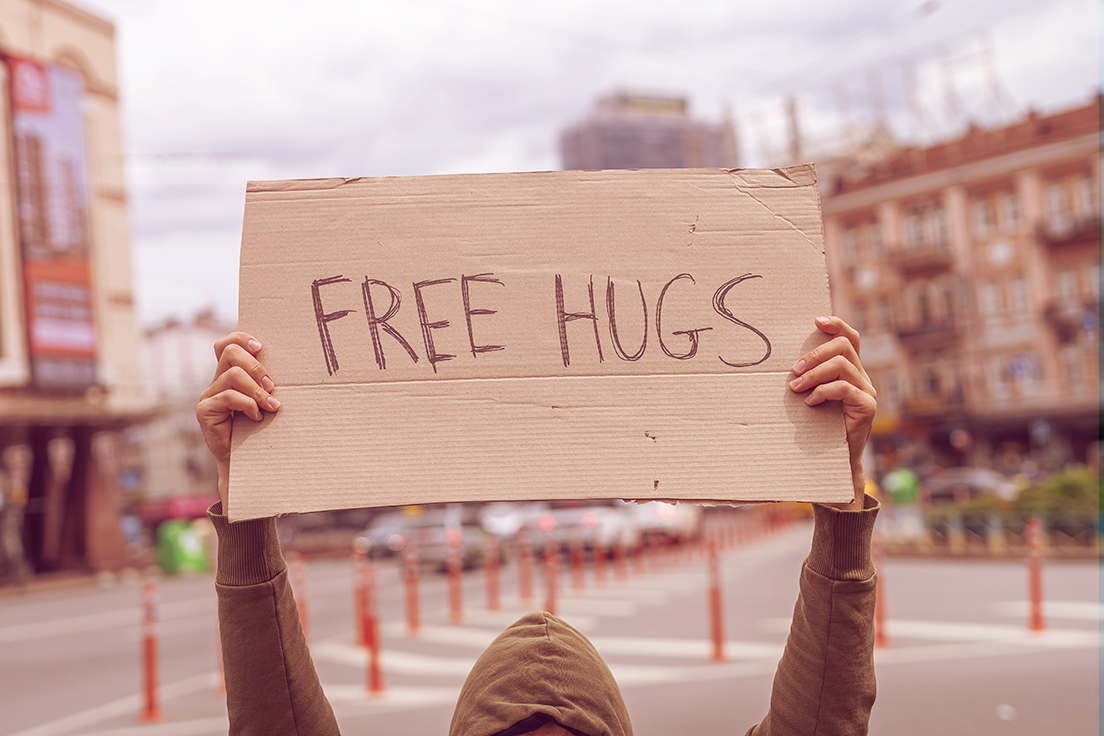 Free hugs lifestyle