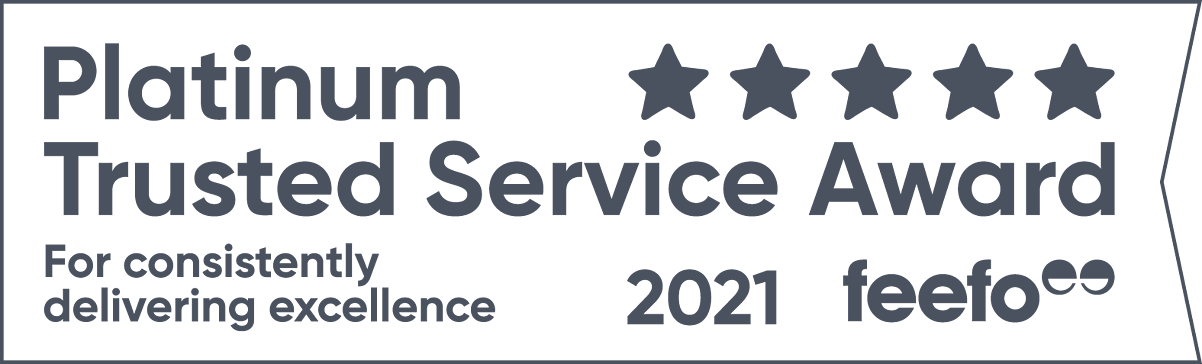 Feefo Trust Service Award logo for 2021
