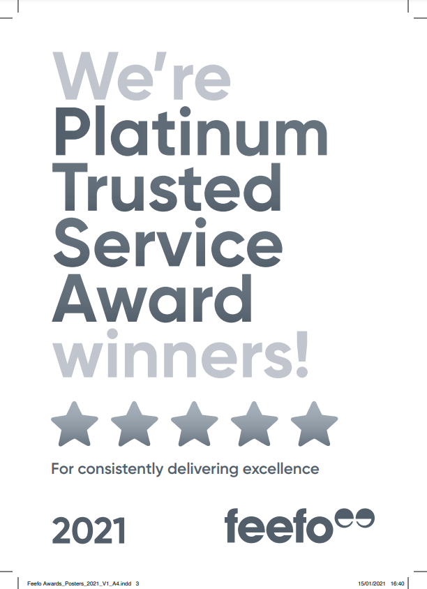Download the white Trusted Service award poster