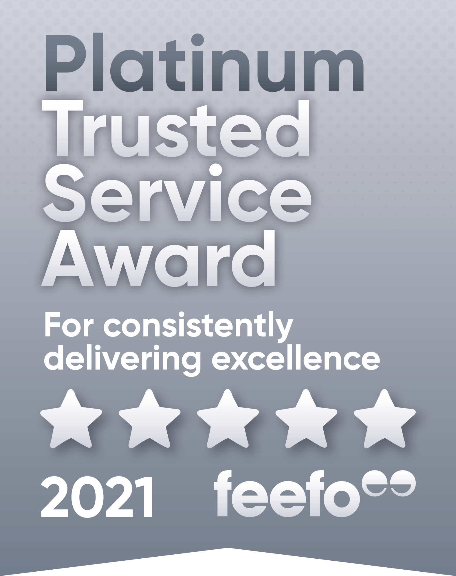 Feefo Platinum Trust badge 2021