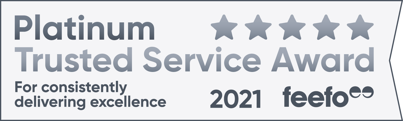 Feefo 2021 Platinum Trusted Service Award