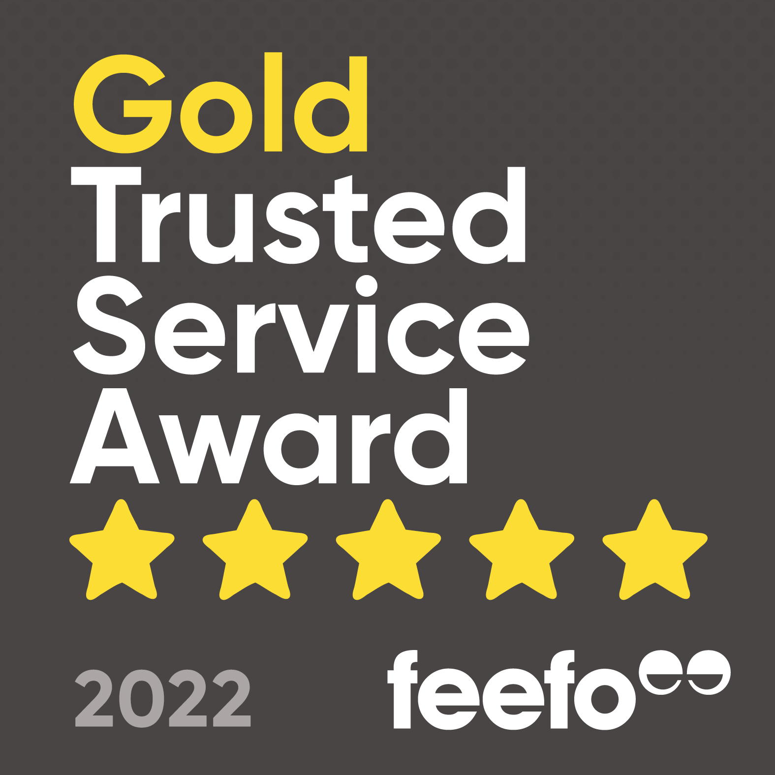Feefo Gold Trusted Service Badge