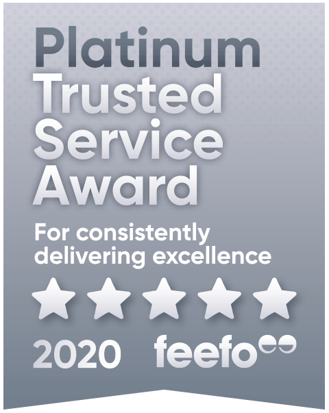 Feefo Platinum Trust badge 2020